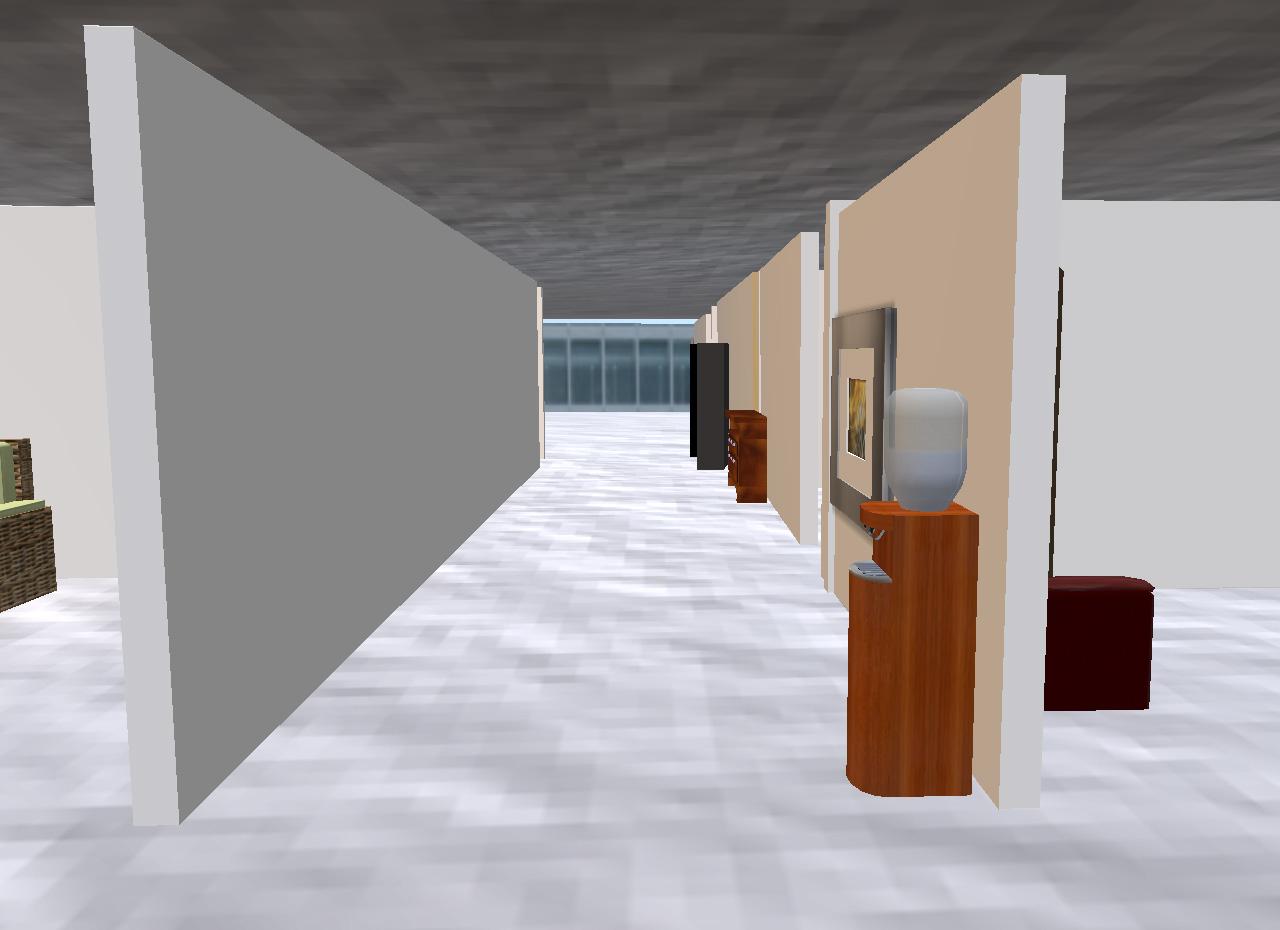 Das Gebäude ist mit langen Gängen und zahlreichen kleinen Räumen und Nischen bewusst unübersichtlich gestaltet.