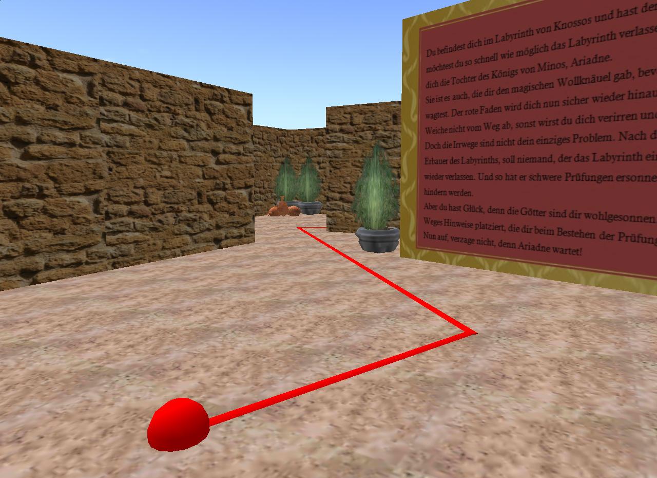 Der rote Faden der Ariadne lotst den Nutzer sicher durch das Labyrinth.