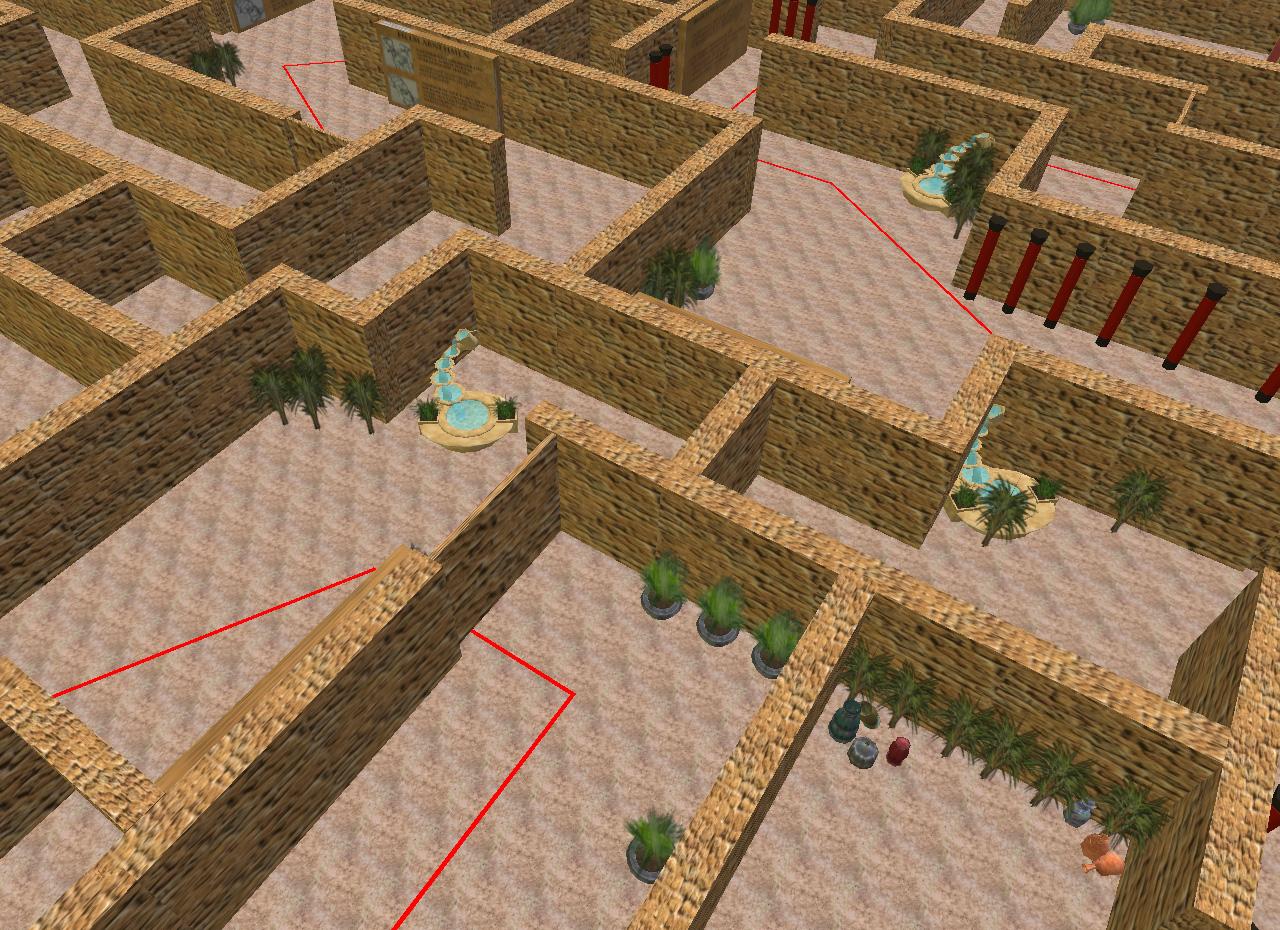 Überblick über das Labyrinth.