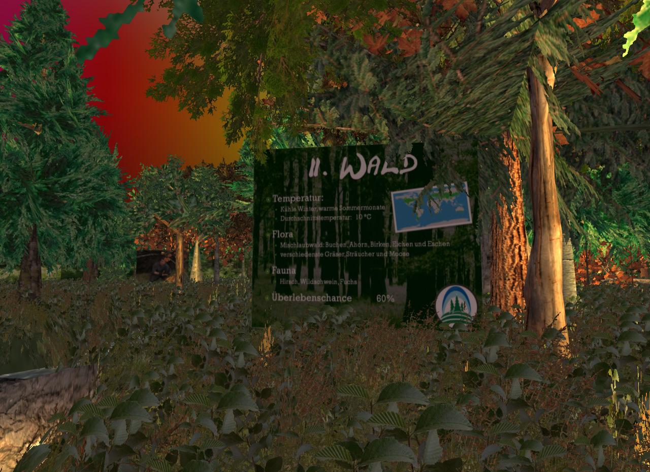 Willkommen im Wald! Ihre Überlebenschance liegt bei 60 Prozent. Viel Glück!